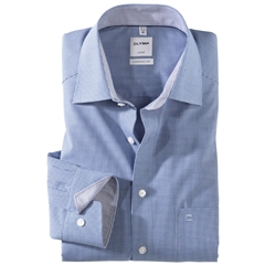 Olymp Comfort Fit Shirt - Royal Blue Check - 3190 64 19