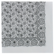 White Neat Paisley Design Bandana or Large Handkerchief
