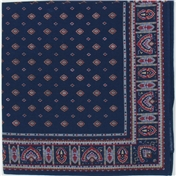 Navy Neat Paisley Design Bandana or Large Handkerchief
