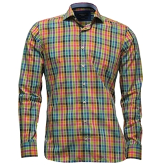 Giordano Modern Fit Cotton Shirt - Multi Squares - Size M Only