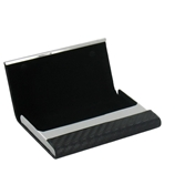 Black PU Business Card Case - Business Card Wallet (GT842)