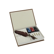 Calligraphy Set - Quill, Interchangable Nibs, Assorted Inks and Paper Pad Set (GT558)