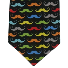 Mens Cravat Multi Moustache Design