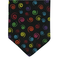 Mens Cravat Multi Coloured Swirls Design