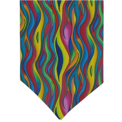 Mens Cravat Multi Coloured Vivid Design
