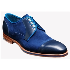 Barker Shoes Style: Butler Blue Calf/ Navy Suede