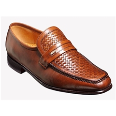 Barker Shoes Style: Adrian - Chestnut Calf/Weave