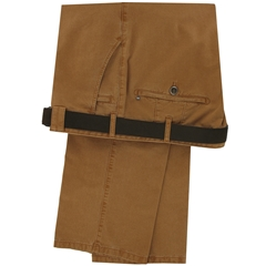 Meyer Cotton Fade Out Trouser - Rust  - Size 40R Only