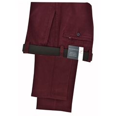 Autumn 2017 Gurteen Longford Mid Weight Cotton Trouser - Wine - Online Exclusive