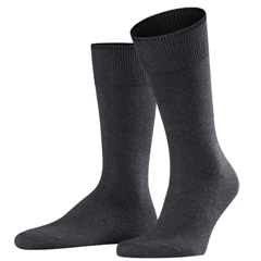 Falke Cotton & Cashmere Short Sock - Charcoal Grey
