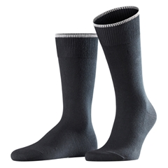 Falke Cotton & Cashmere Short Sock - Black