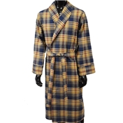 Lightweight Dressing Gown - Navy, Wine and Beige Check