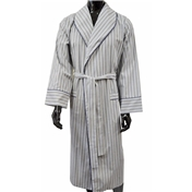 Lightweight Dressing Gown - Navy and Olive Stripe