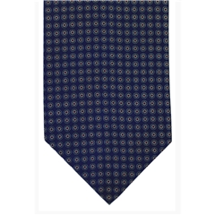 Navy Neat Design Silk Cravat