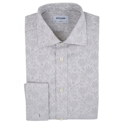 Duchamp Clyde Floral Jacquard Shirt - Pearl - Size XL Only