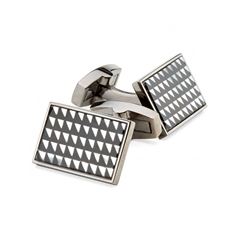 Duchamp Onyx and Mother of Pearl Triangle Cufflink