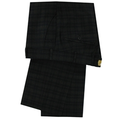 Meyer Trouser Luxury Navy Check Cloth -36L & 40R ONLY