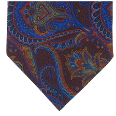 Men's Silk Cravat - Red Abstract Large Paisley