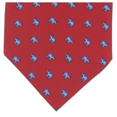 Men's Silk Cravat - Red Elephant Design