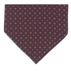 Men's Silk Cravat - Classic Wine Diamond