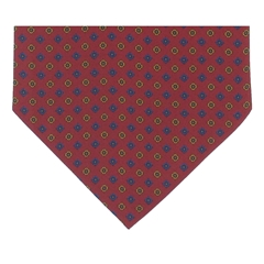 Men's Silk Cravat - Classic Red Diamond