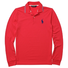 Ralph Lauren Long Sleeve Polo Shirt - Lighthouse Red - M