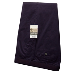Meyer Trousers Deep Purple Luxury Cotton - 34R - 38R ONLY