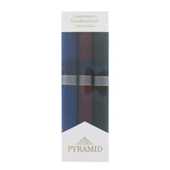 Pyramid Handkerchiefs Men's Gift Box Of Coloured Stripes