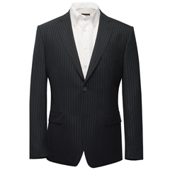 Grey Pin Stripe Suit - Alfred Brown Cloth