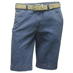 New 2016 Meyer Shorts - Fine Textured Cotton - Blue with Silver Trim