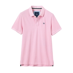 New 2017 Men's Crew Classic Pique Polo - Classic Pink