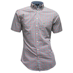 New for 2016 Fynch-Hatton Supersoft Cotton Short Sleeve Shirt - Green Tomato