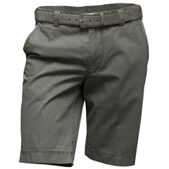 Meyer Shorts - Fine Textured Cotton - Green with Grey Trim  - 38'' Only
