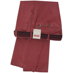 New May 2016 Meyer Textured Cotton Trouser - Pomegranate - Limited Edition