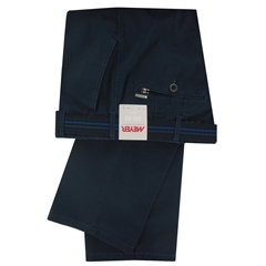 New May 2016 Meyer Textured Cotton Trouser - Navy - Limited Edition