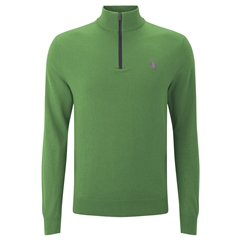 Ralph Lauren Half-Zip Pima Cotton Sweater - South Hampton Green - Size M & L
