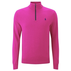 Ralph Lauren Half-Zip Pima Cotton Sweater - Madison Pink - XXL Only