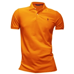 Ralph Lauren Cotton Polo - Active Orange - Size M