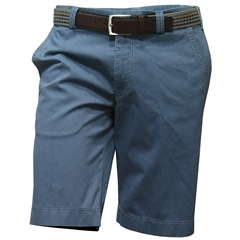 New May 2016 Meyer Textured Cotton Shorts - Mid Blue - Limited Edition