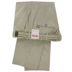 New May 2016 Meyer Textured Cotton Trouser - Mid Beige - Limited Edition