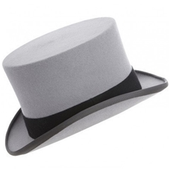 Ascot Grey Fur Top Hat