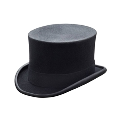 Black Wool Top Hat