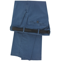 Meyer Trousers Mid Blue Luxury Cotton Trousers - Online Exclusive - Special Purchase