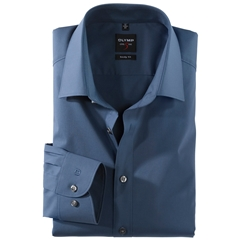 Olymp Level Five Body Fit Shirt - Smoke Blue - 6090 64 13
