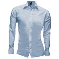Olymp Level Five Body Fit Shirt - Sky Blue