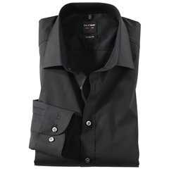 Olymp Level Five Body Fit Shirt - Black - 6090 64 68