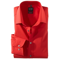 Olymp Level Five Body Fit Shirt - Red - 6090 64 35