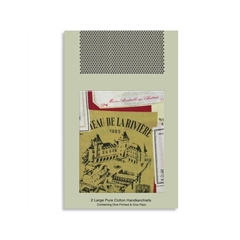 Wine Labels Handkerchief Set