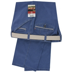 Meyer Summer Cotton Trouser - Blue - Special Purchase - Online Exclusive