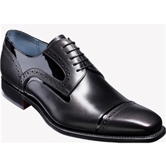 Barker Shoes Style: Haig - Black Calf/Black Patent